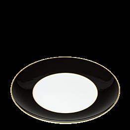 Plato llano Rocco negro Ø 27 cm