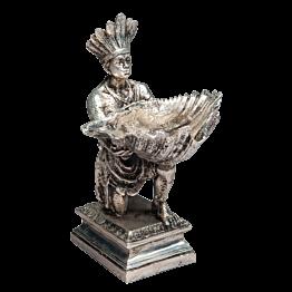 Salero Las Américas plata Alt. 22 cm - L 16 cm -A 14 cm