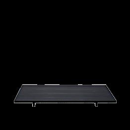 Plateau Iko noir mat 30 x 20 cm sur pied H 2.8 cm