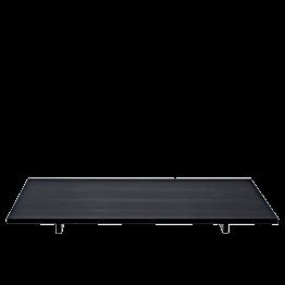Bandeja Iko negra mate 40x30 cm con pies Alt 2,8 cm