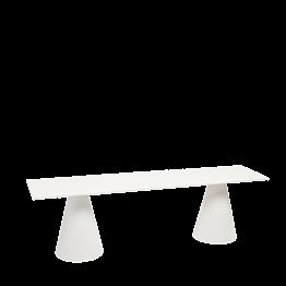 Banco Icono blanco 160 x 40 cm Alt 47 cm