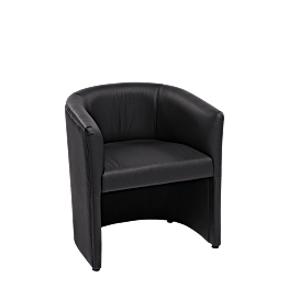 Sillón Club Sim negro 70 x 63 cm Alt 76 cm