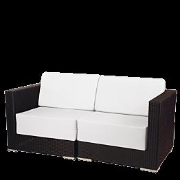 Canapé 2 plazas Lounge trenzado gris 160 x 80 x 67 cm