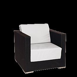 Sillón Lounge trenzado gris 80 x 80 x 67 cm