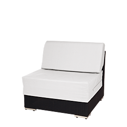 Módulo central de mobiliario Lounge trenzado gris 80 x 80 x 67 cm