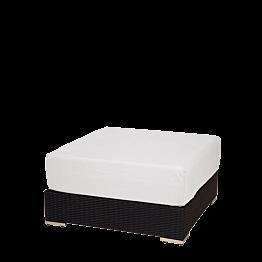 Puff cuadrado Lounge trenzado gris 80x80x40 cm