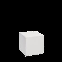 Pouf carré vinyle blanc 40 x 40 H 40 cm M1