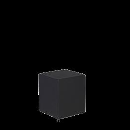 Puff cuadrado vinilo negro 40 x 40 alt 40 cm