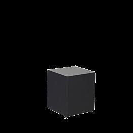 Mesa baja en vinilo negro 40 x 40 alt 40 cm