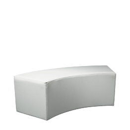 Banqueta redondeada en vinilo blanco 50 x 150 Alt 40 cm