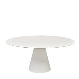 Table Icône Ø 160 cm blanche
