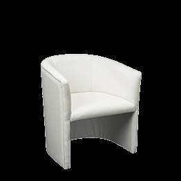 Sillón Club Sim blanco 48.5 x 51 H 76 cm