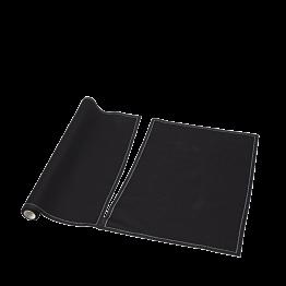 Set de mesa/servilleta tela negra 48x32 cm (por 12)