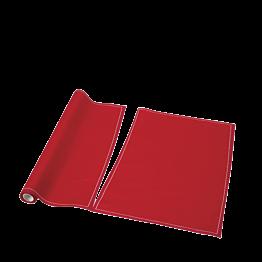 Set de mesa/servilleta tela roja 48x32 cm (por 12)