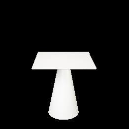 Mesa Icono cuadrada blanca 69 x 69 cm