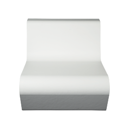 Sillón Lounge Piscina blanco 76 x 90 cm H 68 cm