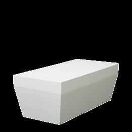 Banqueta Lounge Piscina blanca M1 80 x 40 cm Alt 30 cm