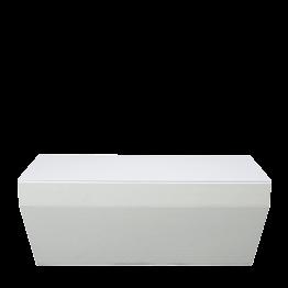 Mesa baja Lounge Piscina blanca 40 x 80 cm