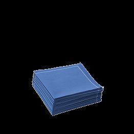 Servilletas cóctel tela azul 2 pliegues 20 x 20 cm (30 u.)