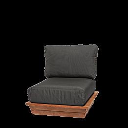 Sillón Lounge Gris 76 x 76 cm H 70 cm