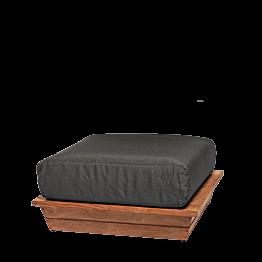 Puff Lounge gris 76 x 76 cm H 36 cm
