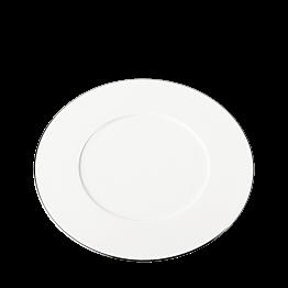 Plato llano Plano ribete plata Ø 27 cm