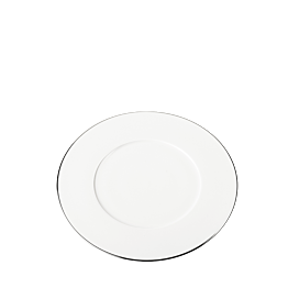 Plato de postre Plano ribete plata Ø 23 cm