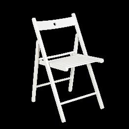 Silla Menorca blanca plegable
