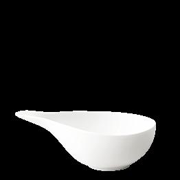 Salsera de porcelana blanca 19 x 9 cm Alt. 6 cm