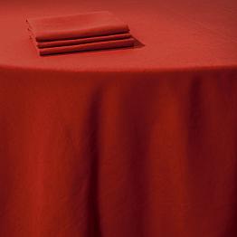 Pasillo de mesa lino rojo 50 x 270 cm