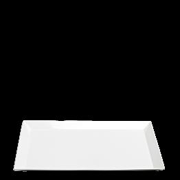 Bandeja porcelana blanca  48 x 32 cm Alt. 2,7 cm
