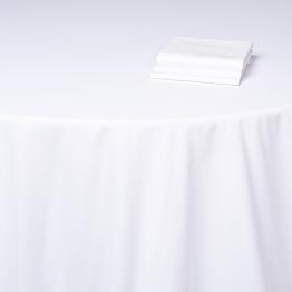 Servilleta de mesa Alaska algodón blanco 50 x 50 cm