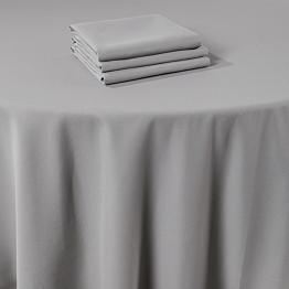 Serviette de table Marjorie gris 50 x 50 cm ignifugée M1