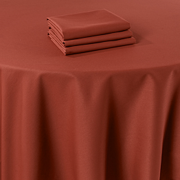 Servilleta de mesa Marjorie terracota 50 x 50 cm