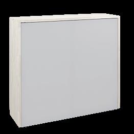 Mostrador recepción plegable blanco 120 x 35 cm Alt.110 cm