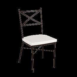 Chaise Toscane avec coussin crème