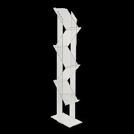 Expositor en metacrilato Alt. 150 cm 5 niveles formato A4