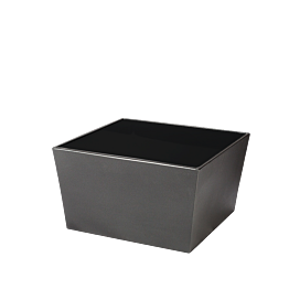 Mesa baja Cono negra con sobre acrilico negro 70x70x40 cm