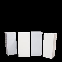 Mesa cóctel alta Cubo negro y blanco