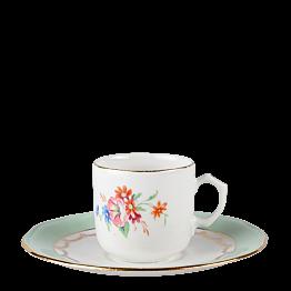 Taza y plato de café Vintage