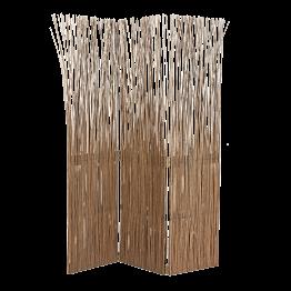 Biombo madera flotante 3 hojas L 120 cm (40x3) Alt 170 cm