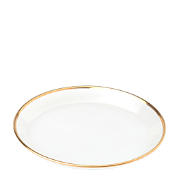 Plato de pan cristal ribete oro Ø 12 cm