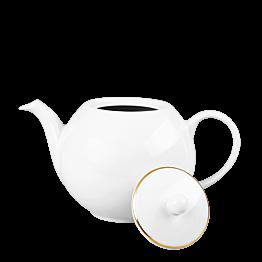 Tetera blanca ribete oro 170 cl