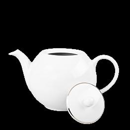 Tetera blanca ribete plata 170 cl