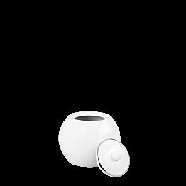 Azucarero blanco ribete plata 25 cl