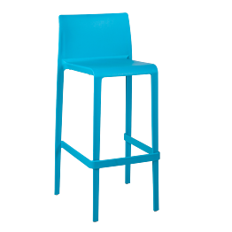 Silla alta Sila azul Alt. 100 cm