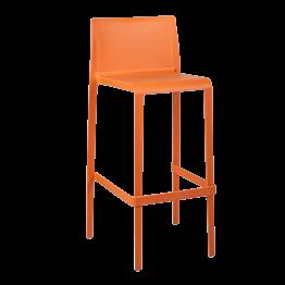 Silla alta Sila naranja Alt. 100 cm
