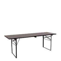 Mesa Kermesse negra 70 x 220 cm Alt.78 cm