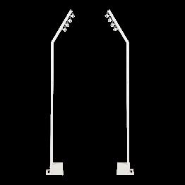 Lote de 2 Farola multi direccional blanca autónoma Alt 230 cm