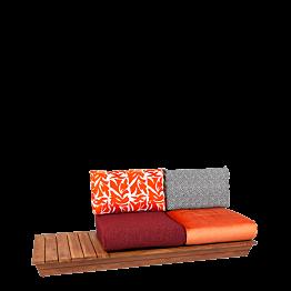 Sofá Lounge Katmandou 76 x 204 cm H 70 cm
